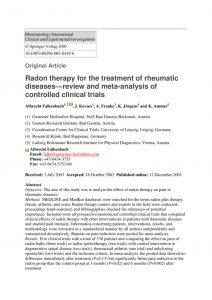 thumbnail of 5_Radon therapy rheumatic diseases_Falkenbach et al.
