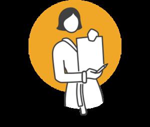Icon Kurantrag Patientenservice Frau