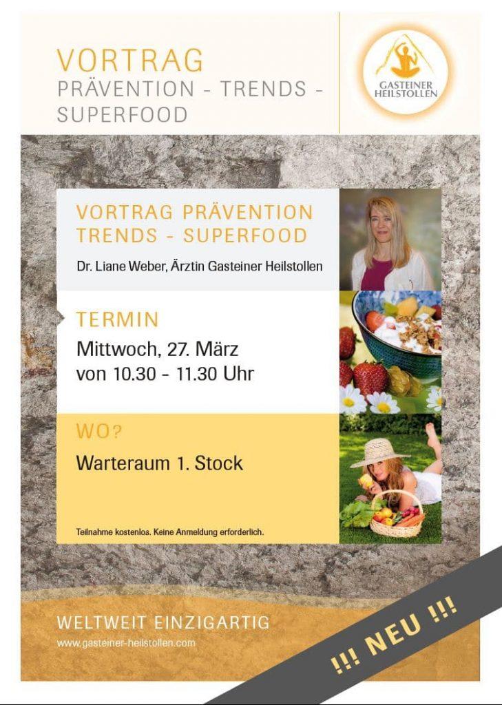 Vortrag über Ernährung und Superfood - Trends und Mythen