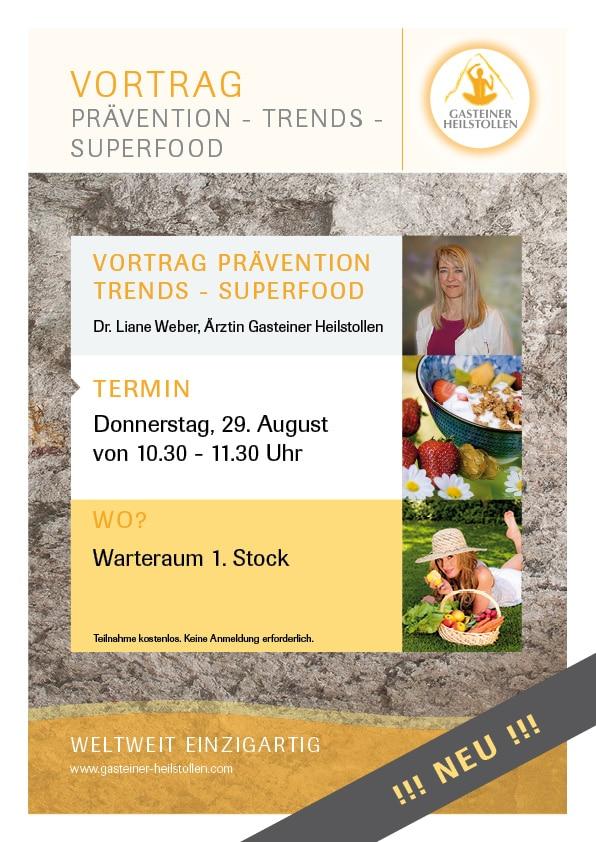 Heilstollen Vortrag zum Thema Ernährung, Trends und Superfood