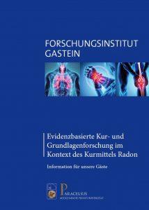 Forschungsinstitut Gastein_Infofolder